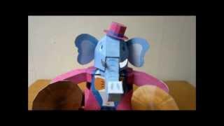 automaton - papercraft - elephant (canon papercraft) - dutchpapergirl