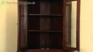 Louis Philippe Solid Mahogany Corner Cabinet From Oak Furniture Land