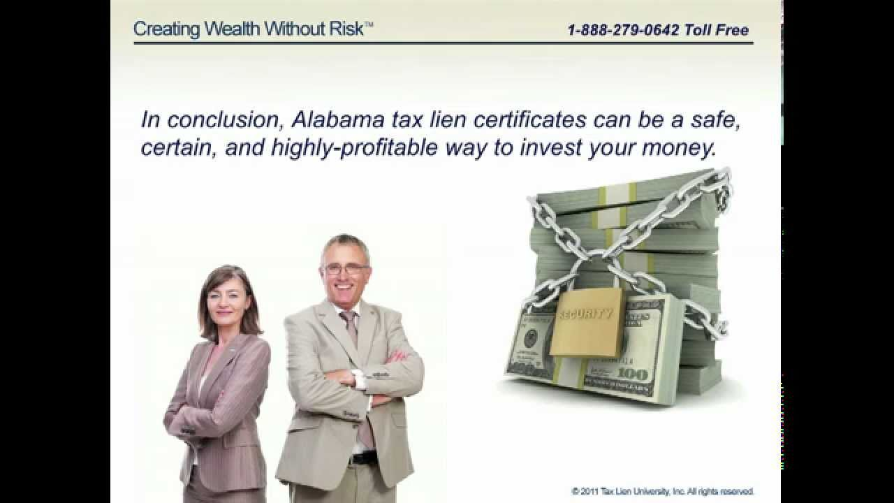 Tax Lien Certificates and Tax Deeds in Alabama