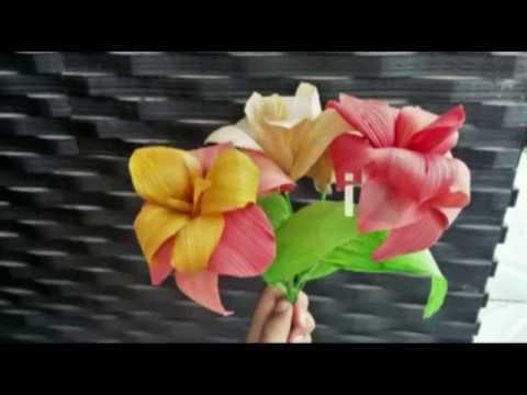 Cara Membuat Bunga Dari Kulit Jagung Youtube