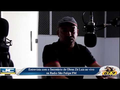Entrevista com Secretário de Obras, Zé Luis, ao vivo na Radio São Felipe FM