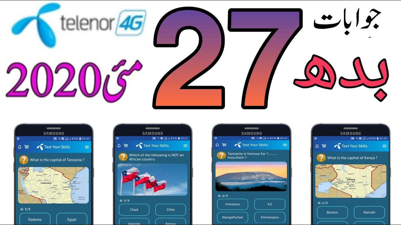 27 may my telenor app questionsmy telenor play and win