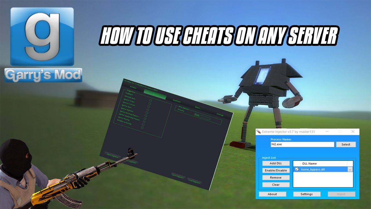 GMOD HOW TO USE CHEATS ON ANY SERVER (NEW WORKING)