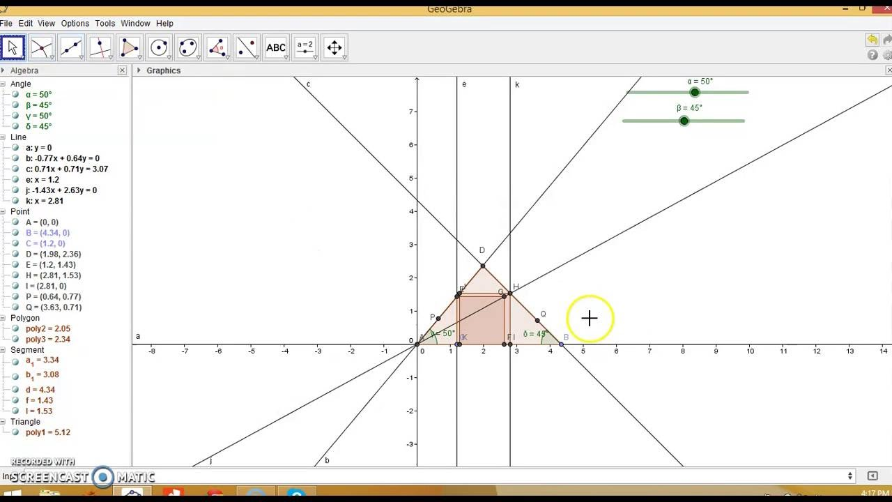 Square within Triangle -Inscribed Square-GeoGebra
