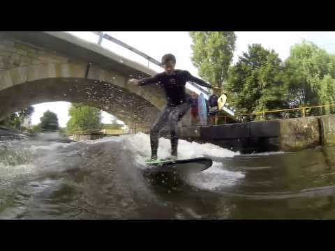The first surfing wave in the Czech Republic!