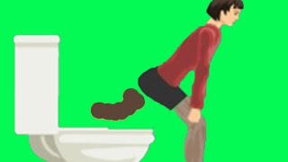 DON'T SIT ON THE TOILET!! | Happy Wheels Fun