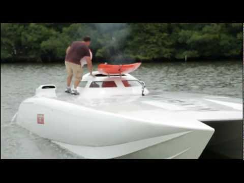 RUDY BRONSON interviews Paramount Trinidad Offshore Racing Team with their Mystic 50 Ft Boat prep.