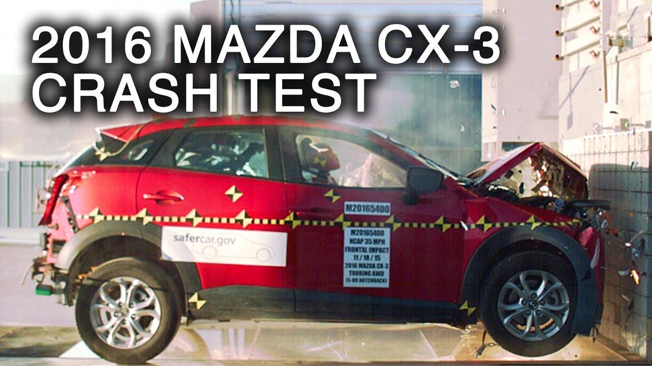 2016 mazda cx 3 frontal crash test youtube. Black Bedroom Furniture Sets. Home Design Ideas