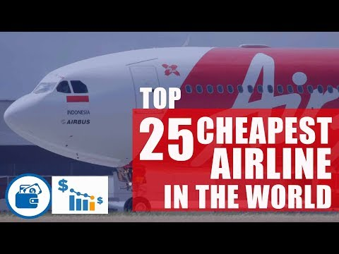Top 25 cheapest airline in the world by cost per mile