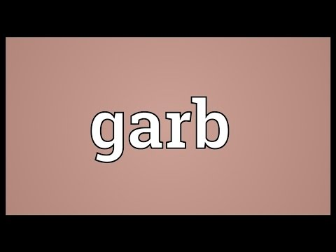 Garb Meaning