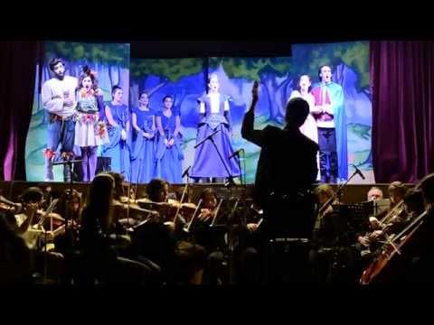 La Flauta Mágica Dir. Eduardo Gramegna, Elenco y Orq. Esc.Mun.Mús de San Miguel. Octubre 2015