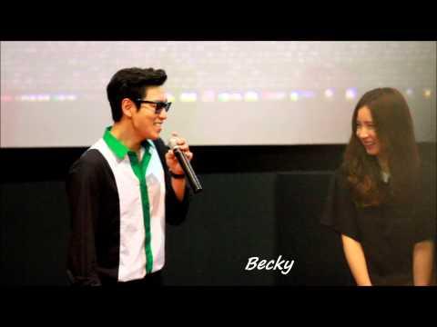 Crazy T.O.P with Shin Se-Kyung at Seoul Tazza2 Cinema Greeting