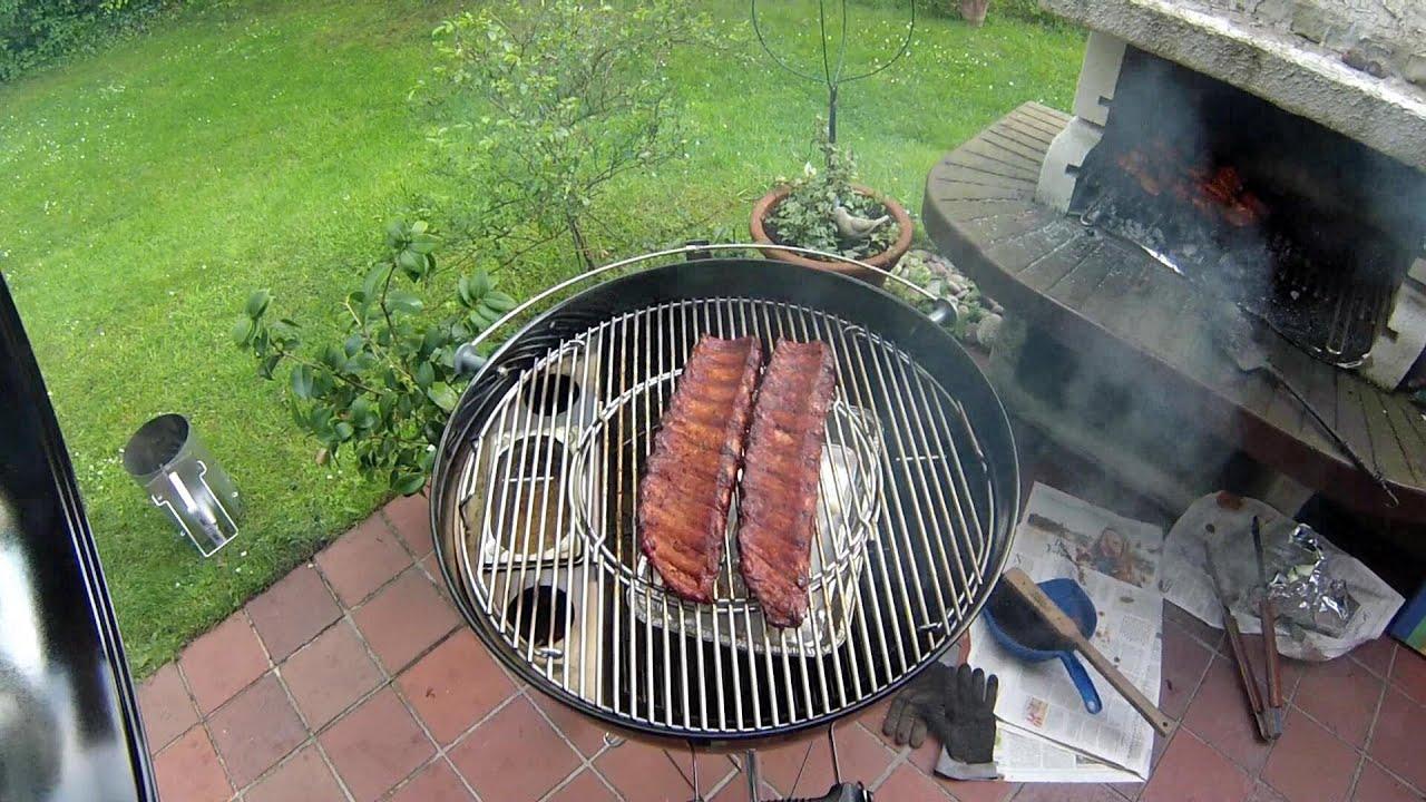 Spareribs Gasgrill Ohne Räuchern : Spare ribs rippchen räuchern weber grill smokenator youtube