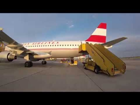 Boarding Austrian Airlines flight 871 from Vienna to Tehran (A320 Retro Livery)