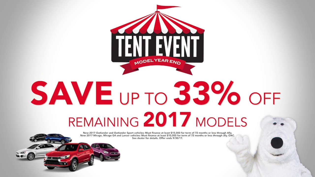 Tent Event Sale at White Bear Mitsubishi - Remaining 2017 Mitsubishi Model Discounts  sc 1 st  YouTube & Tent Event Sale at White Bear Mitsubishi - Remaining 2017 ...