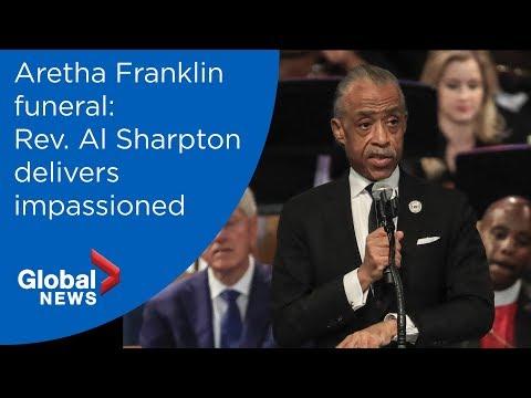 Aretha Franklin funeral: Rev. Al Sharpton FULL eulogy