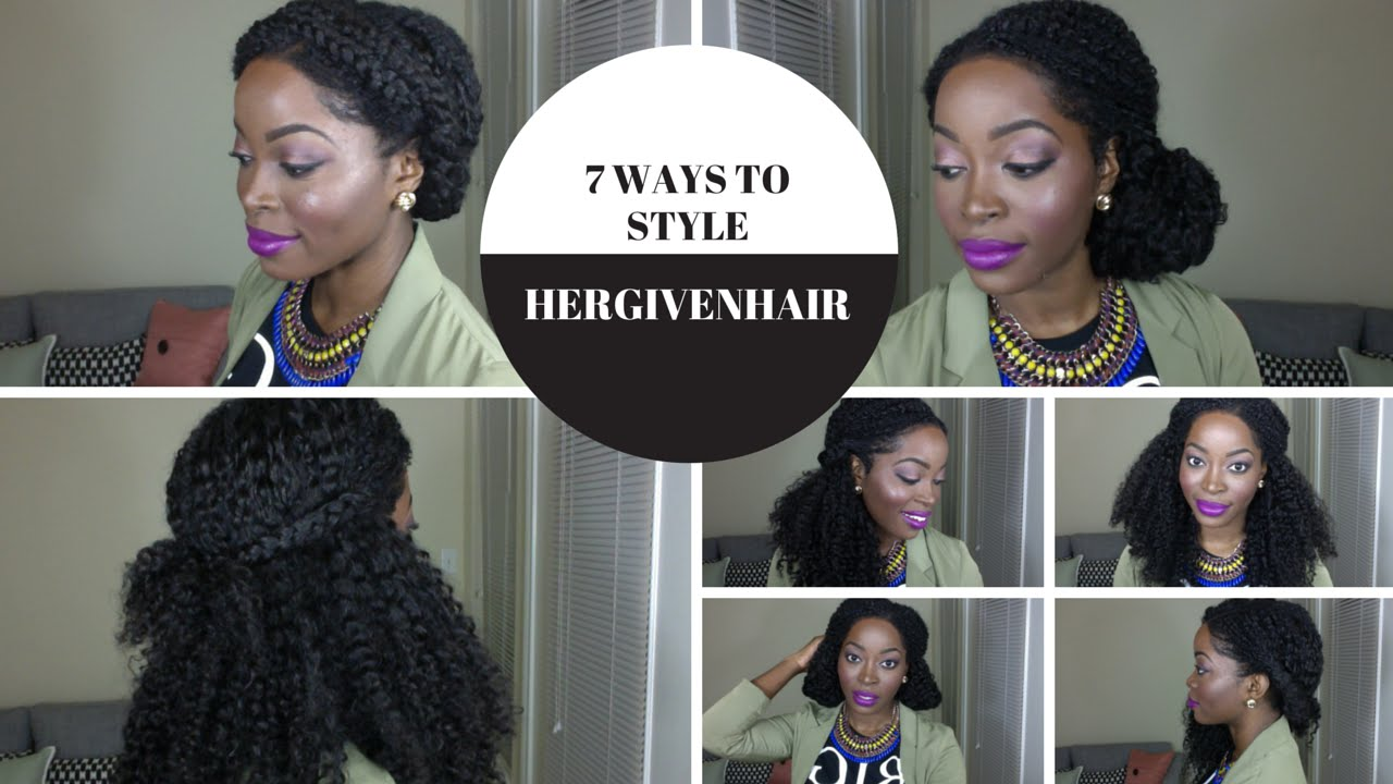ways to style natural hair 7 ways to style a curly upart hair wig 1330 | maxresdefault