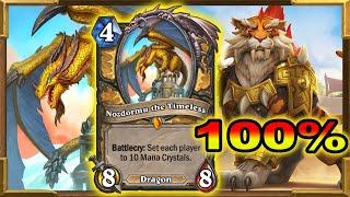 Hearthstone: 100% Winrate With  Nozdormu OTK Shirvallah!  Is Actually Working | Descent of Dragons