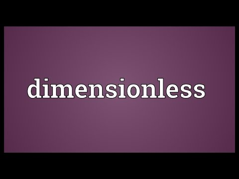 Dimensionless Meaning