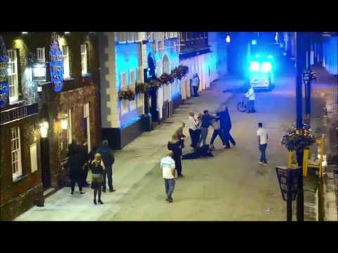CCTV footage of moment policeman is knocked unconscious in King's Lynn