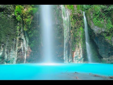Air terjun dua warna Sibolangit  Sumut Indonesia Ayok