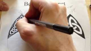 How to Draw Celtic Patterns 63 - Aberlemno Triskele in an irregular shape - 4of4