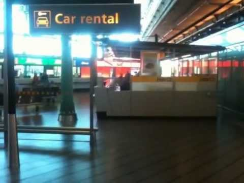 Tour of Schiphol Airport Car Rental Desks
