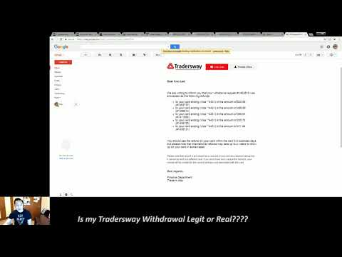 1792 Withdrawal From Tradersway 2018 Youtube