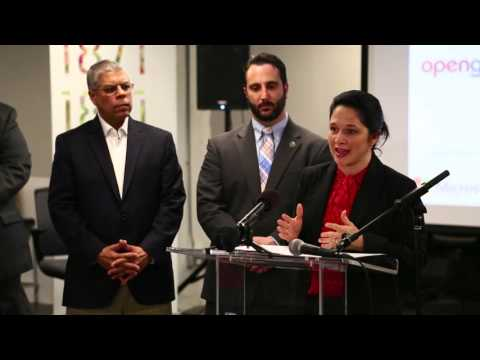 Chicago City Clerk Susana Mendoza speaks at the Envision Chicago Launch