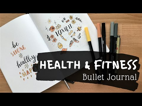 PLAN WITH ME ll 10 Week Health and Fitness Bullet Journal