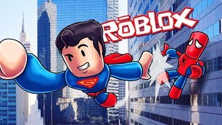 roblox fighting as spiderman,batman,iron man,superman