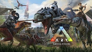 ARK: Survival Evolved - Ragnarok . Одиночное выживание # 1 Строим Базу и тамим животных.