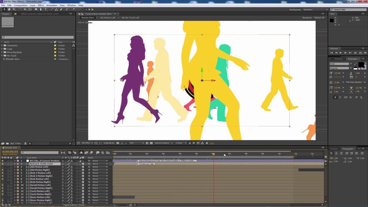 Tutorial After Effects Animar Siluetas Proyecto Gratis Youtube