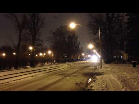 Metra in street running