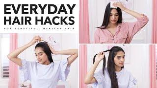 Everyday Hair Hacks| High ponytail hairstyles for natural hair, puff hairstyle for natural hair