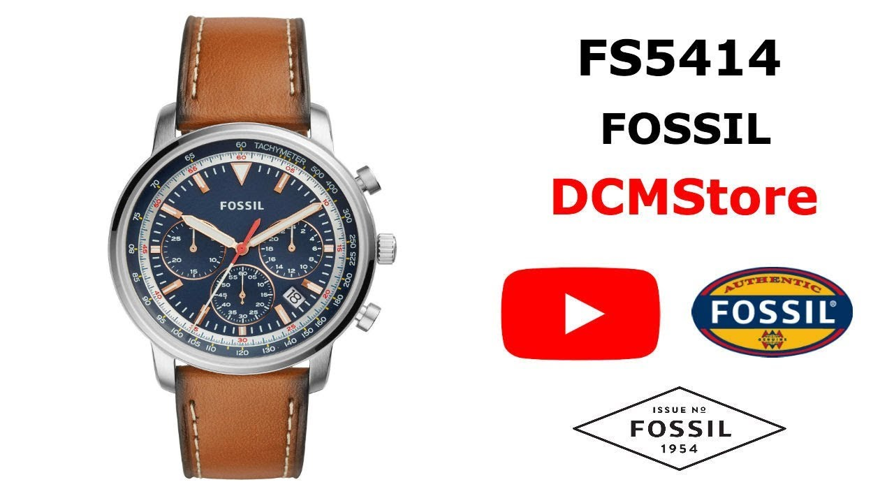b5757bf27 FS5414 Fossil Goodwin Chronograph Blue Dial ...... DCMStore - YouTube