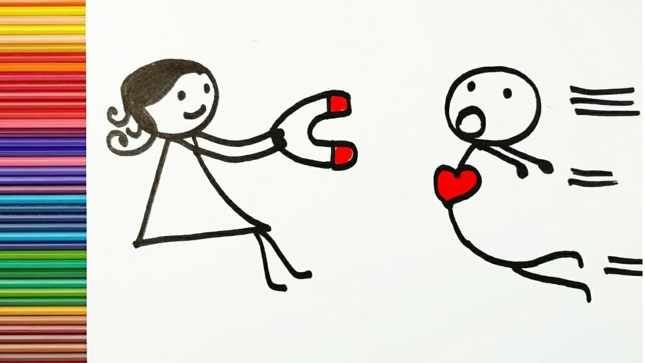 How To Draw A Couple In Love Love Connection Easy Drawing Youtube