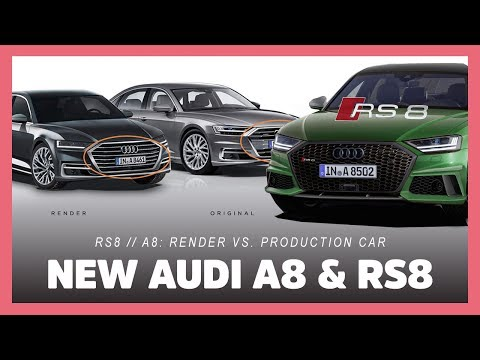 PREVIEW 2020 Audi RS8 | New A8: Render vs. Production Model