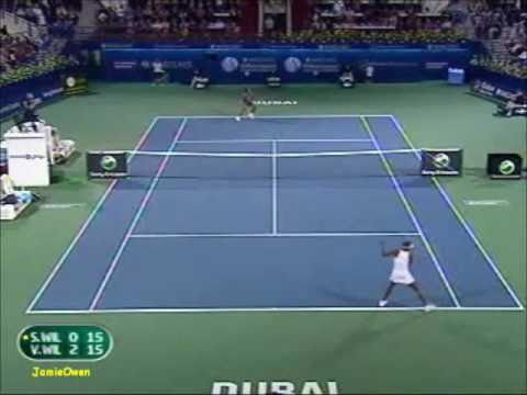 Venus Williams vs Serena Williams 2009 Dubai Highlights