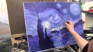 Художник Сахаров, техника живописи Ван Гога, уроки в Москве и Питере