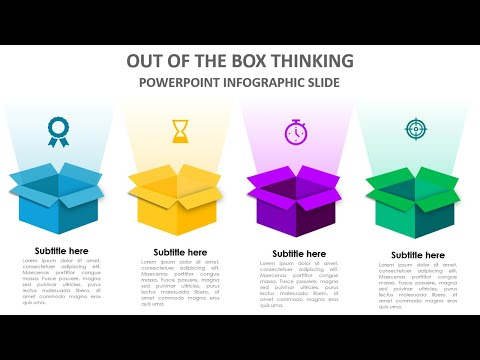 Create 4 Steps Out Of The Box Thinking Infographic Slide In PowerPoint | Free Download
