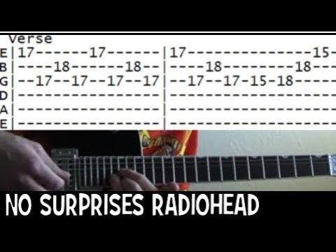 Radiohead No Surprises Famous Riffs Expert Guitar Instructions Song Tablature