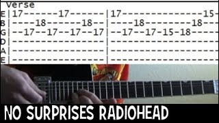 Radiohead No Surprises Famous Riffs Expert Guitar Instructions Song Tablature