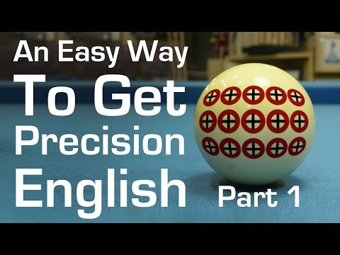 An Easy Way To Get Precision English In Billiards And Pool