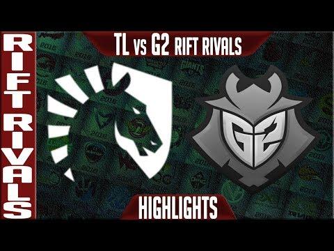 TL vs G2 Highlights   Rift Rivals 2019 Day 2 NA vs EU   Team Liquid vs G2 Esports