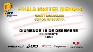 Finals Master Menors Cadet i Junior masculina
