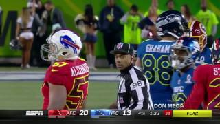Jimmy Graham Gets Laid out By Lorenzo Alexander at The Pro Bowl