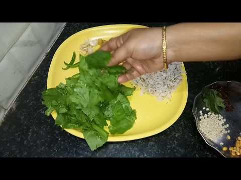 Healthy And Tasty Palak Chutney Recipe In Kannada | Spinach Chutney