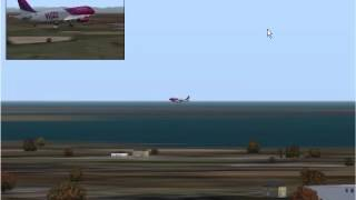 Cover images Wizz Air A320 landing at Venice Marco Polo Tessera Airport [FS2004]