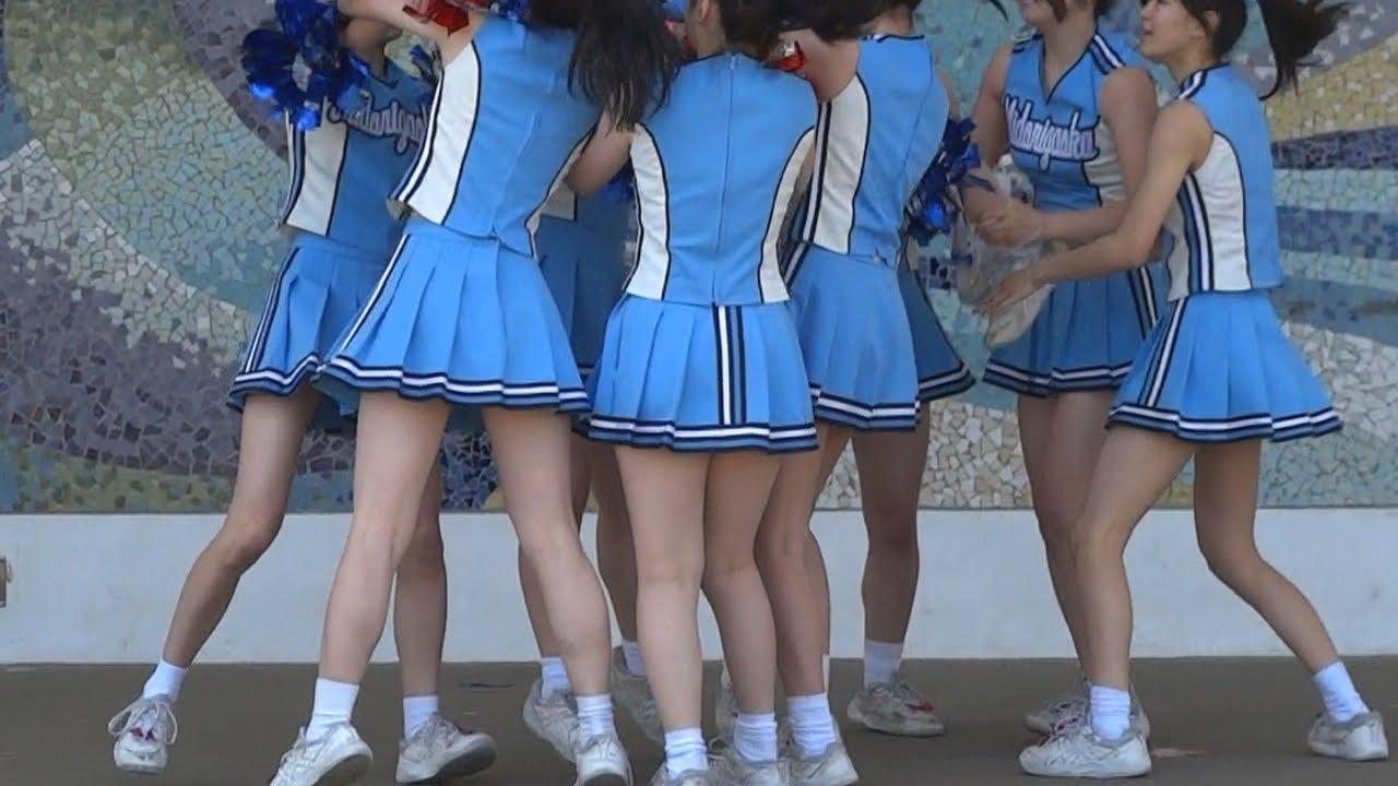 女子高生 チア09(チアダンス) Japan High school girls cheer Dance